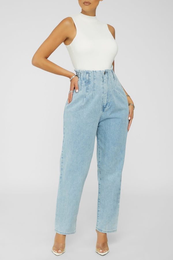 Up For It Jeans - LIGHT DENIM