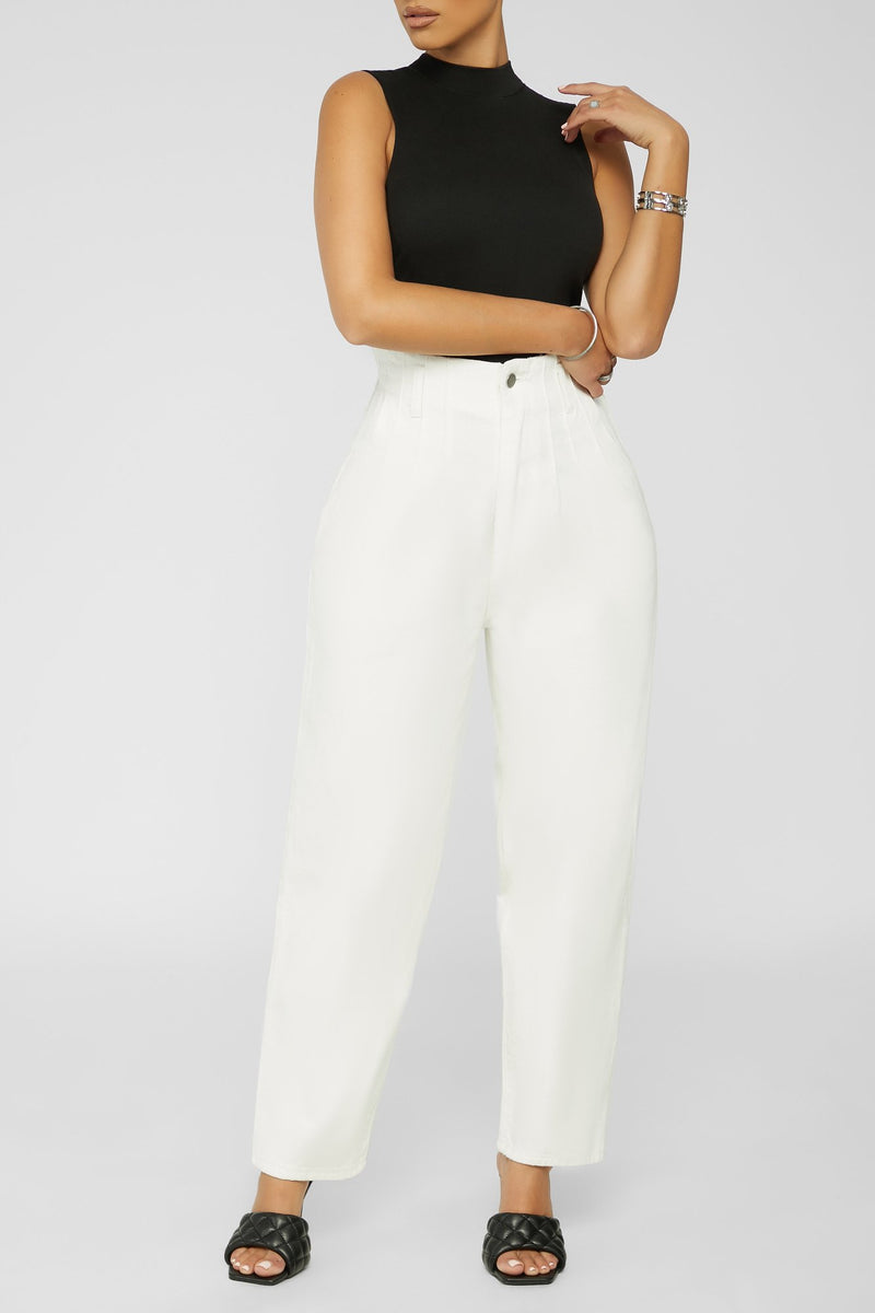 Up For It Jeans  - WHITE