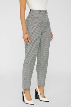 THIS MEANS BUSINESS PANTS -BLACK/WHITE