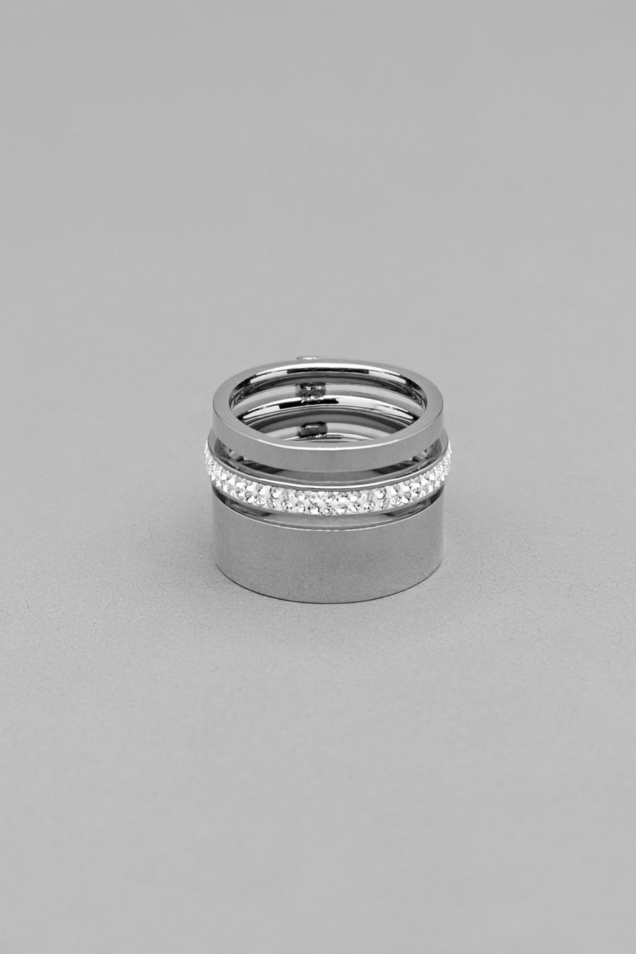 Interlocking CZ Silver Ring - Kosmios