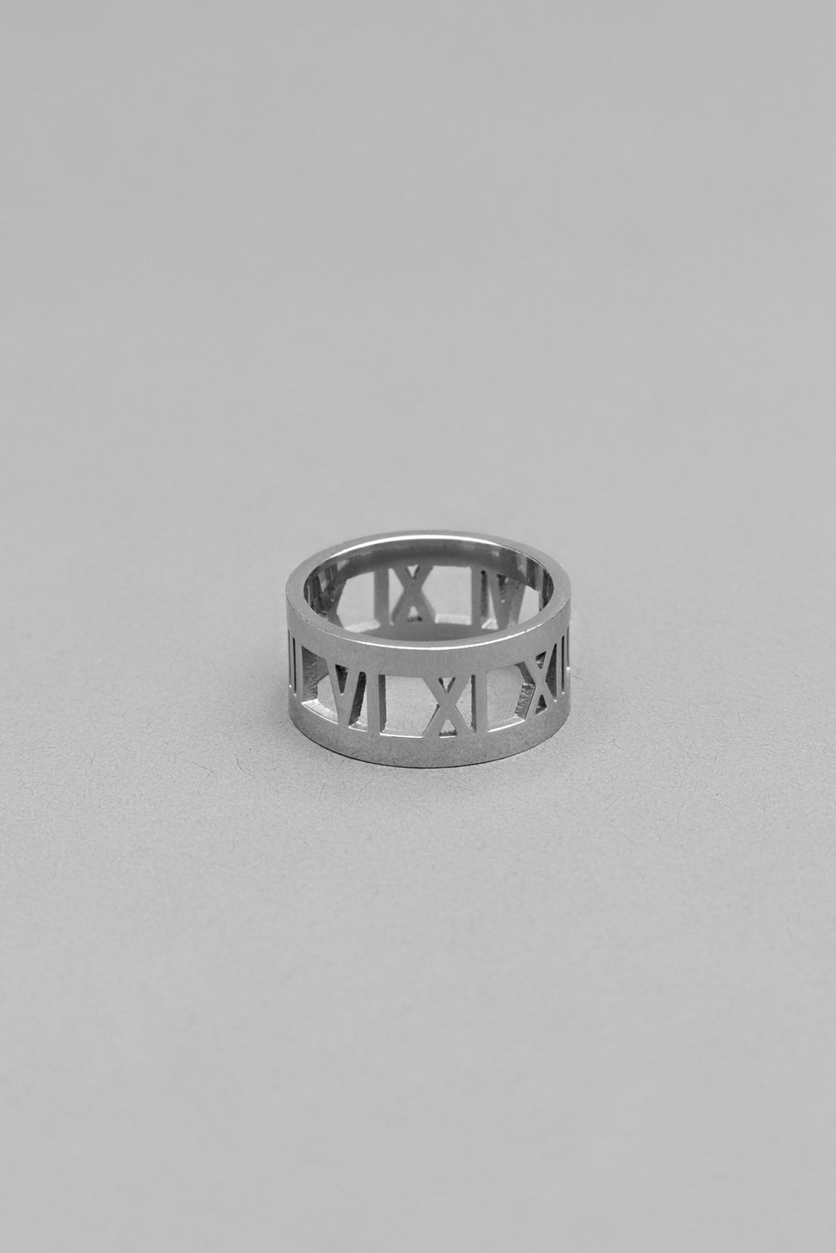 Roman Numeral Silver Ring