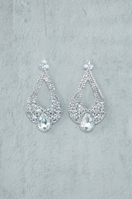 Pure Opulence Chandelier Earrings (Silver)