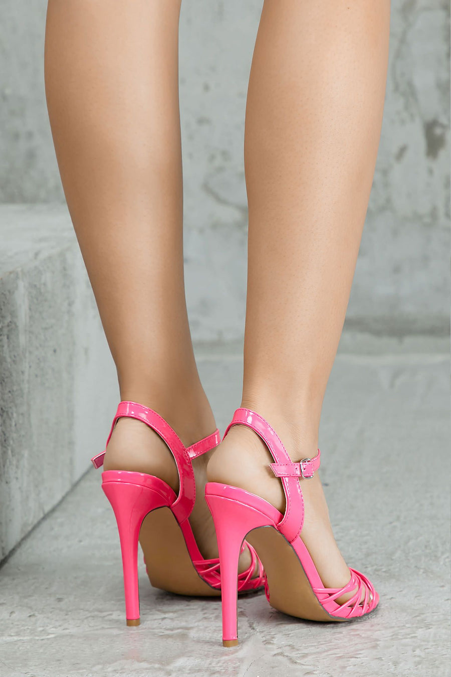 Stop And Pay Attention Heels (Pink)