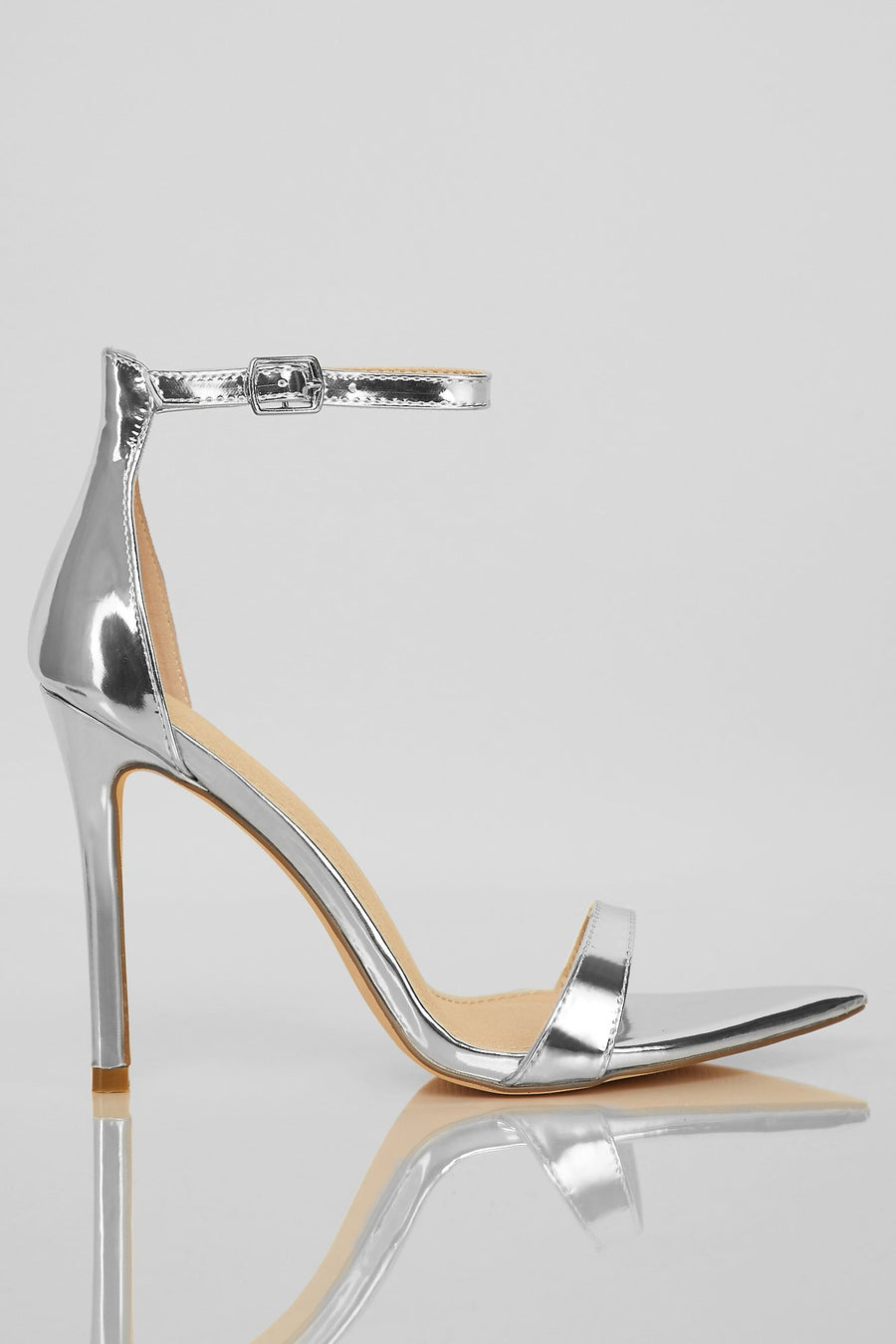 What's Your Point Heels (Silver)
