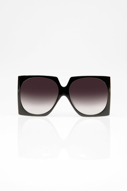 The Milani Rounded Mirror Sunglasses (Ice Black)