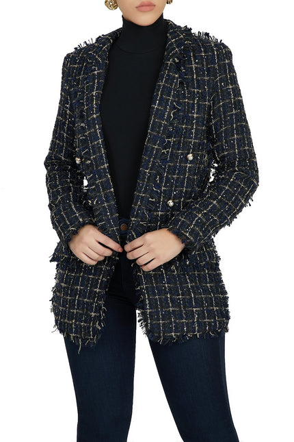 Suede Expectations Blazer (Navy)