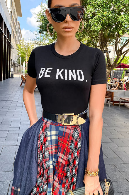Be Kind Top - Black [PRE-ORDER 11/17]