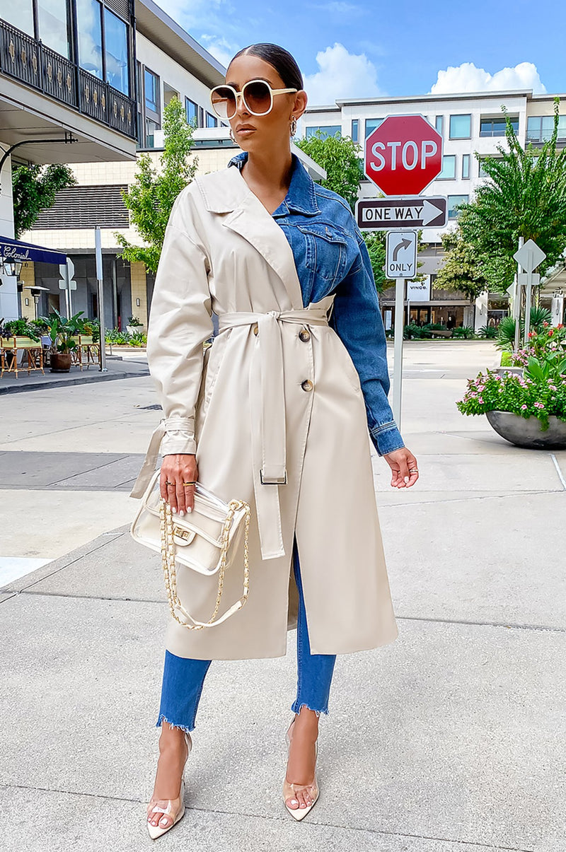 Pull It Together Trench - Denim
