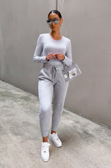 On The Go Top - Gray