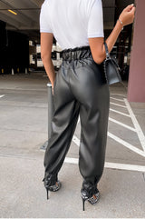 All In The Paper Bag Pants - Black