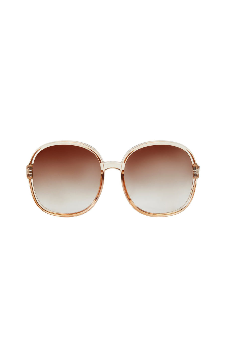Tea Time Sunglasses - Clear Brown