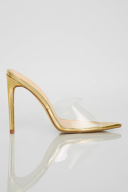 Stand Clear Heels (Gold)