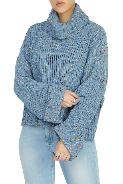 Puff Act To Follow Sweatshirt (Denim Blue)