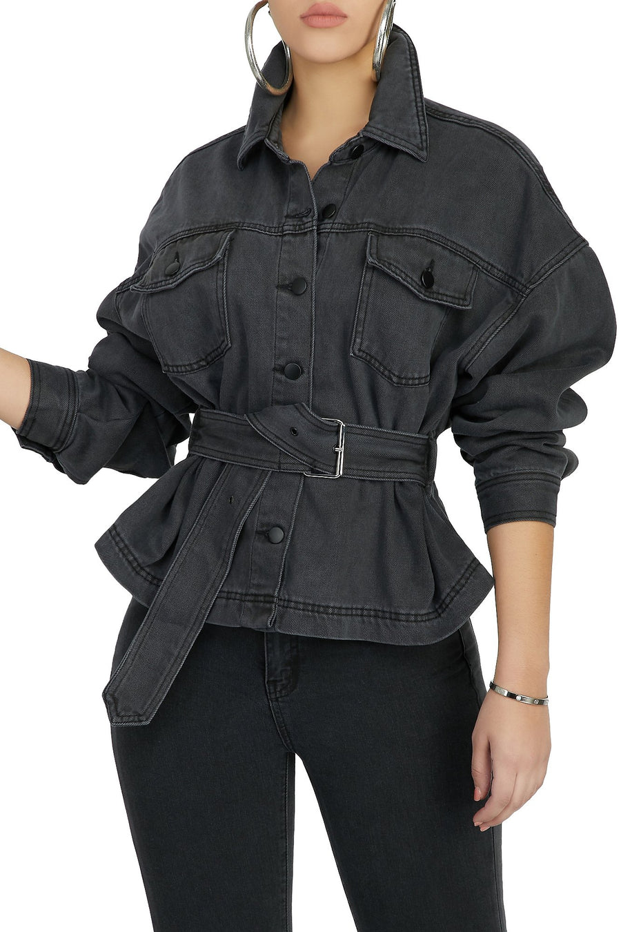 A Session In Style Denim Jacket (Charcoal)