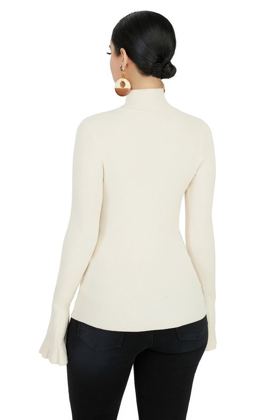 Let Your Flare Down Top - Cream