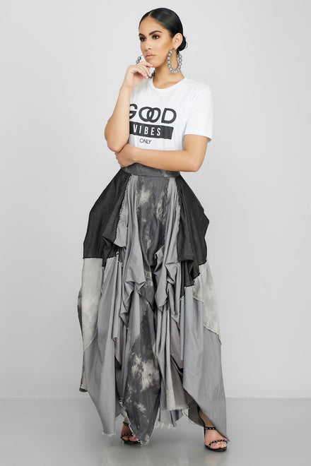 Damsel In Distressed Skirt (Charcoal)