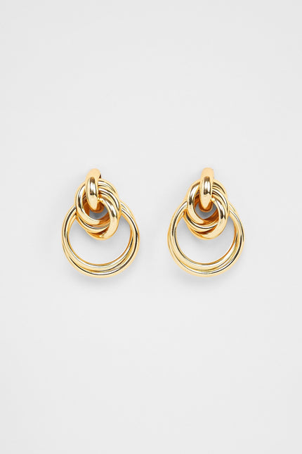 Keep Me In The Hoop Earrings (Gold)