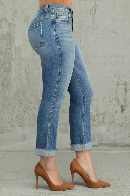 Straight To The Point Mid Rise Jeans (Medium)
