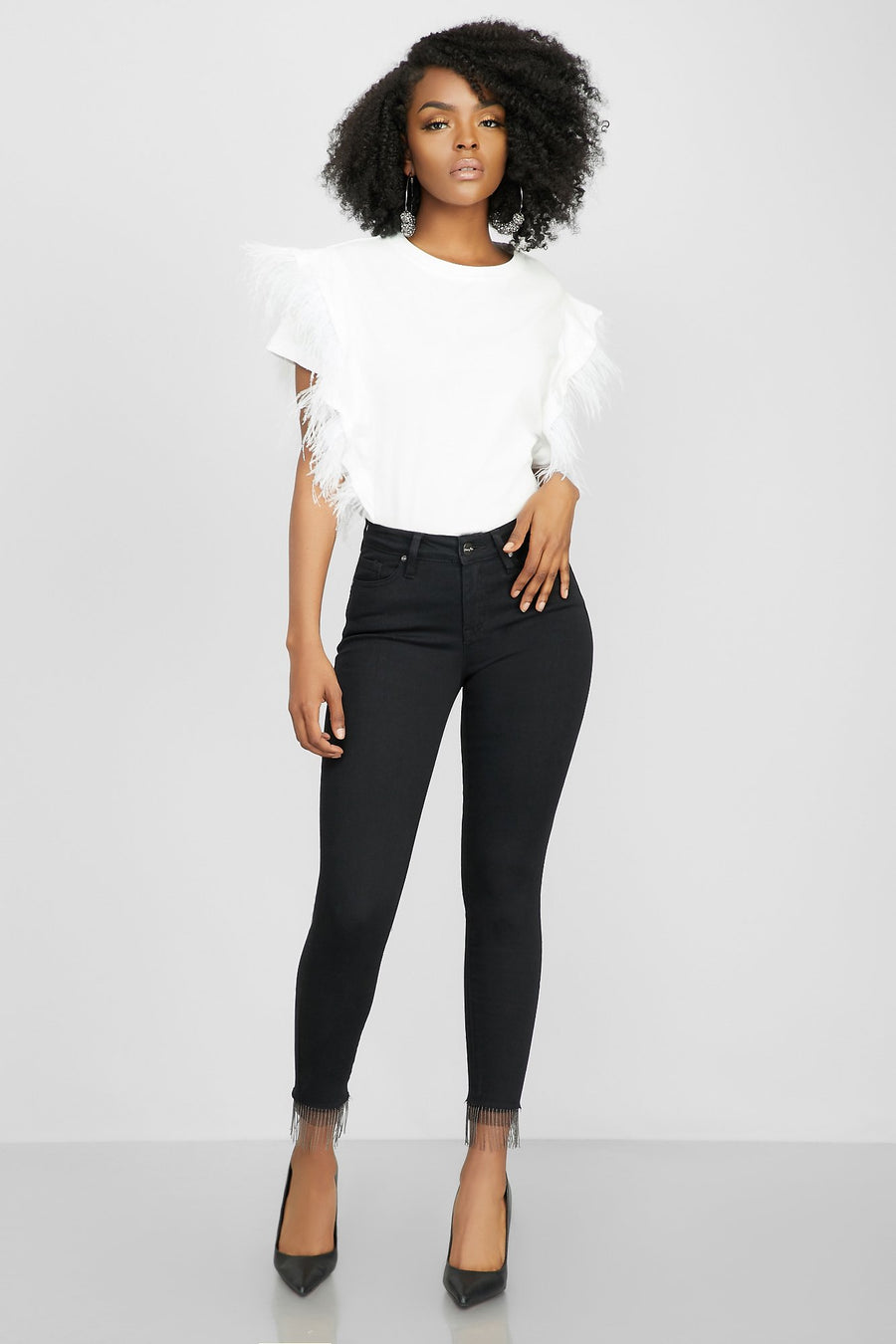 Search High And Low Skinny Jeans