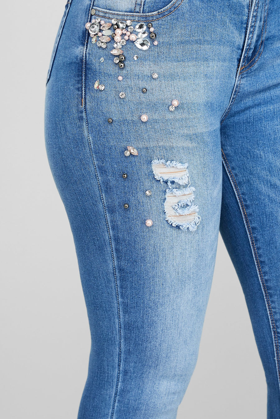 Pearls For The Girls Jeans
