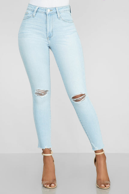 Got The Denim Blues Cropped Jeans