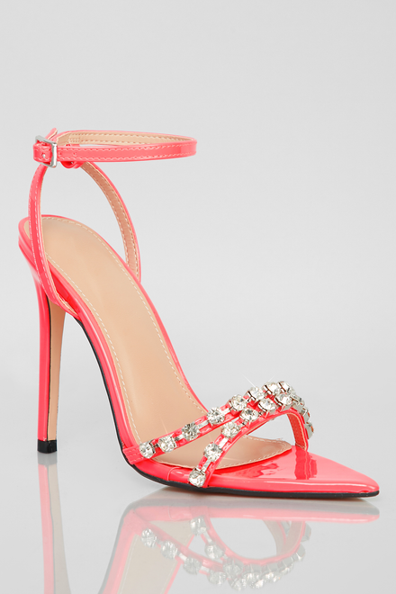Like A Diamond Heels (Patent Neon Pink)