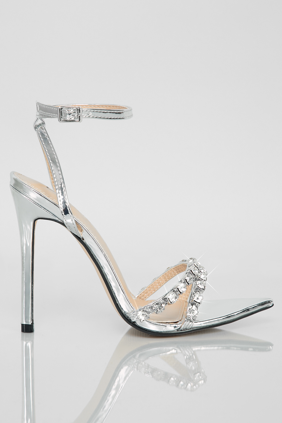 Like A Diamond Heels (Silver)