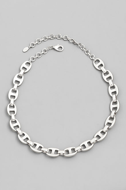 Lets Link Up Necklace (Silver)