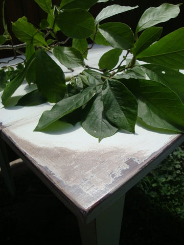 Square White Table