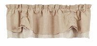 Natural Scalloped Valance