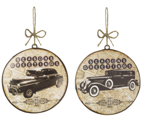 Vintage Car Disc Ornaments