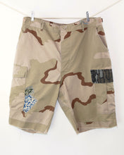 Load image into Gallery viewer, Vintage Military Paratrooper Cargo Cut Off Shorts_Size L Waist 37""