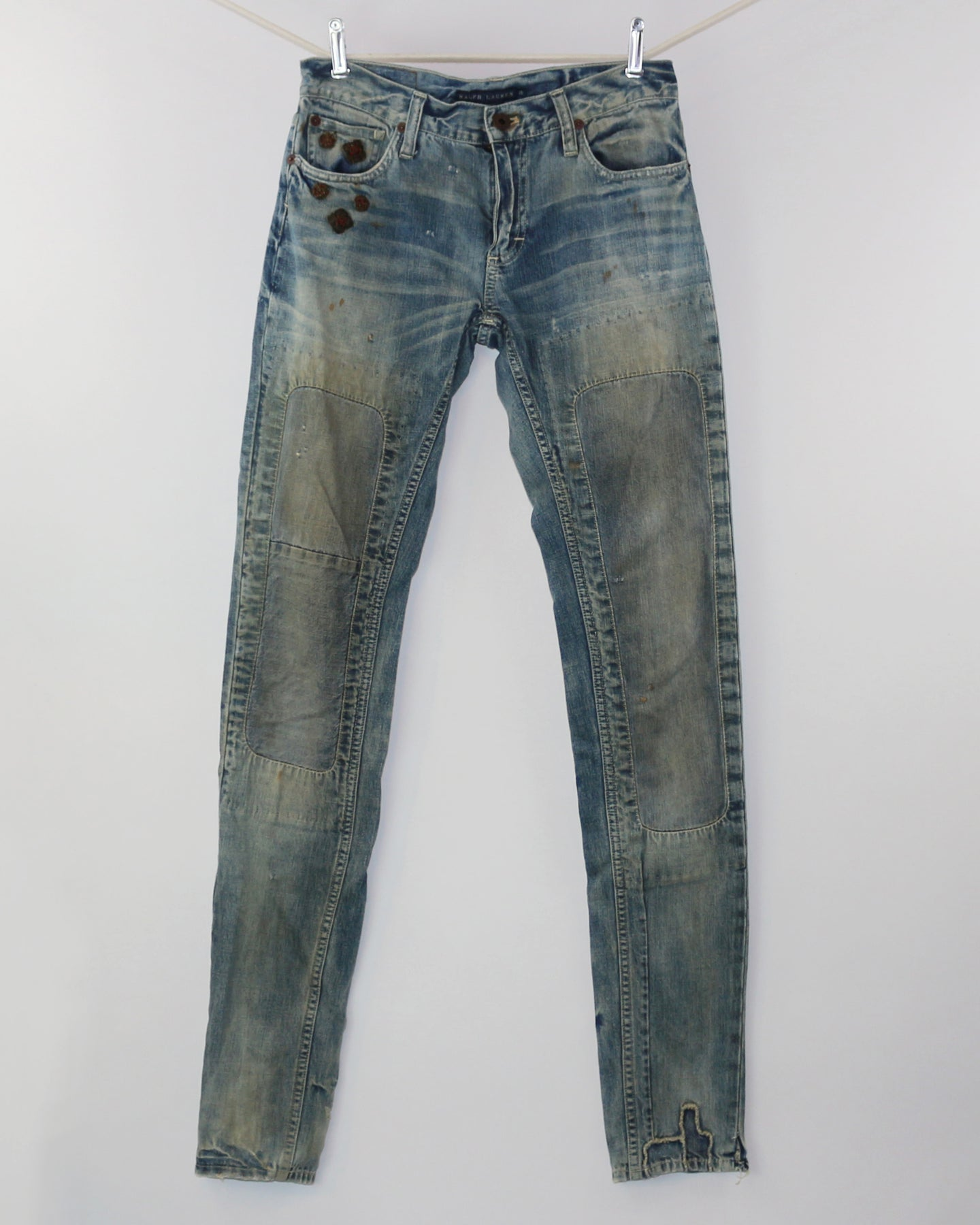 Vintage RALPH LAUREN Blue Label Georgian, Skinny Mid Low Rise_ Women's 25