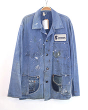 Load image into Gallery viewer, Vintage Euro work jacket with paint splatter_Unisex Size L/XL