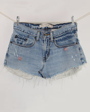 Load image into Gallery viewer, Daisy Duke Cutoff Miniskirt with Vintage patch, Size 29