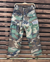 "Load image into Gallery viewer, Woodland Camo Crago Pants, Men's size S_Waist 27""-30"" (Unisex)"