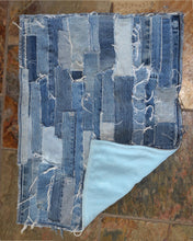 Load image into Gallery viewer, Patch Worked Frayed Denim Mat