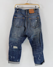 "Load image into Gallery viewer, Japanese ""RNA-N"" Multi Mended Oversized Jeans, Size S/M"