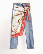 Load image into Gallery viewer, Vintage TRUSSARDI Scarf Wrap Levi's 501 Jeans_Size 27