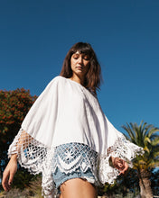 Load image into Gallery viewer, Crochet-Trim Poncho