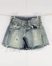 Load image into Gallery viewer, Denim Cutoff Miniskirt, Waist 29""