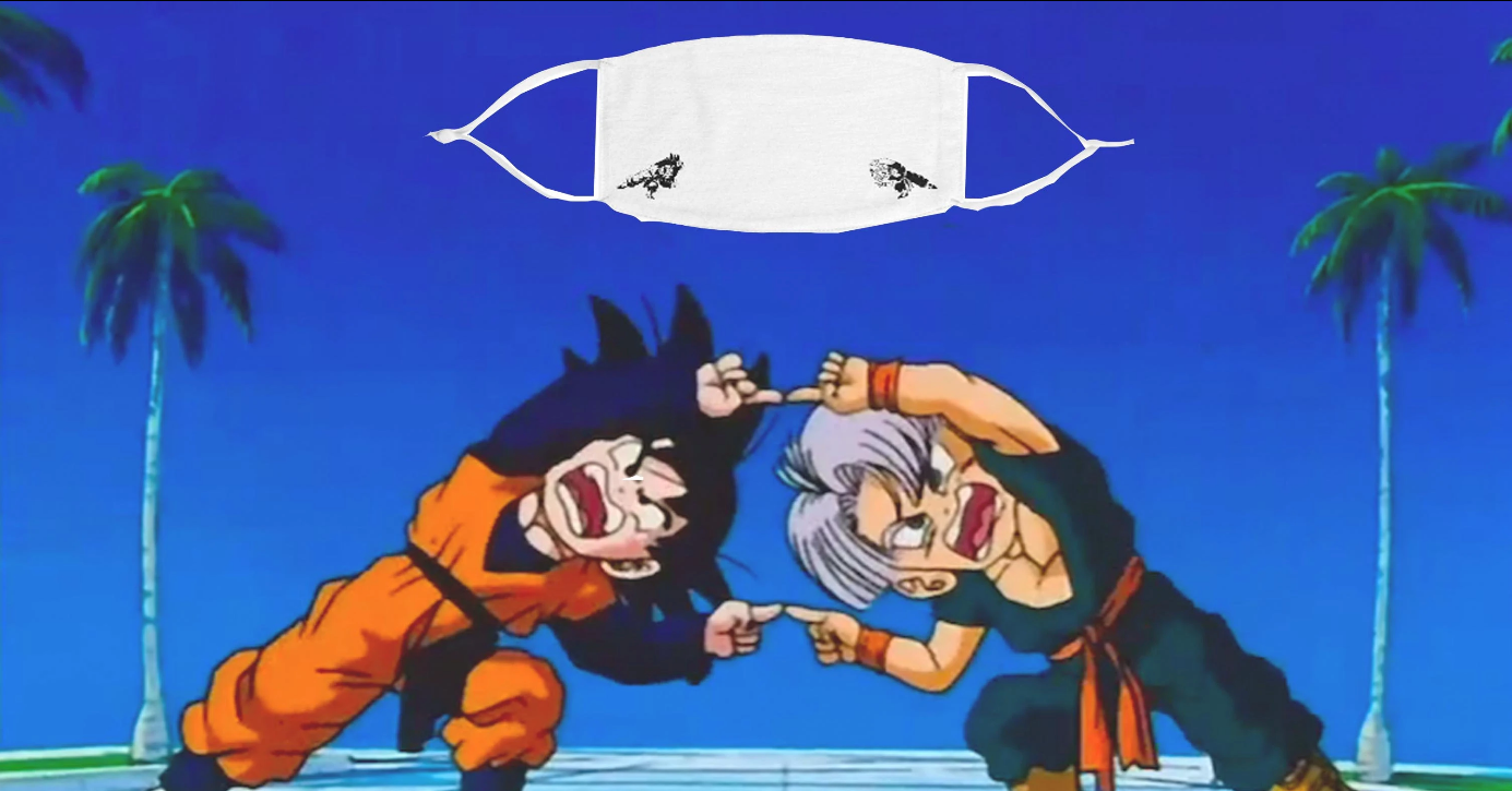 Gotenks Fusion Face Mask