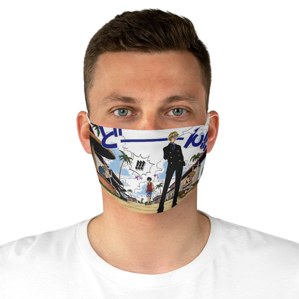 One Piece Beginning Fabric Face Mask