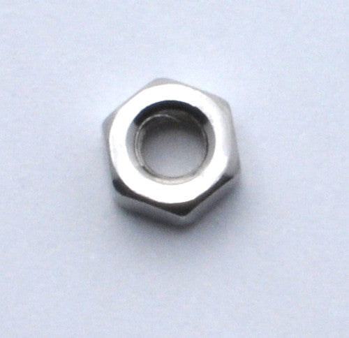 M3 Stainless Steel A2 hex nut - Metric DIN934 (set of 10)