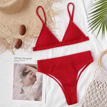 Load image into Gallery viewer, Special Fabric High Waist Bikini Set