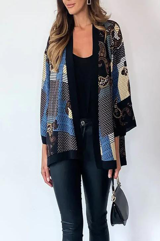 Patterned Kimono Top in Multi