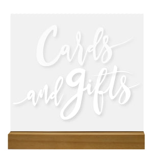 Acrylic Cards & Gifts Sign