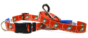 USMC Flag - Collar & Leash Set
