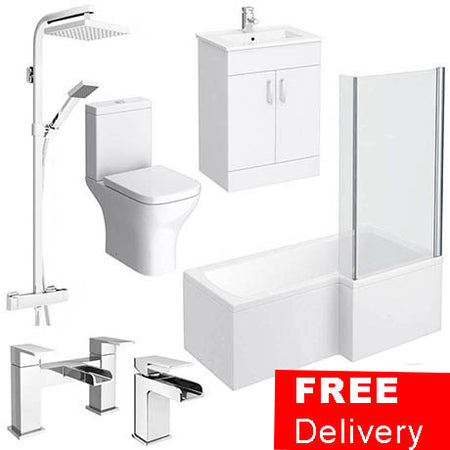 L Shape 1700mm Complete Bathroom Package - Cheapest Price Ever!!!