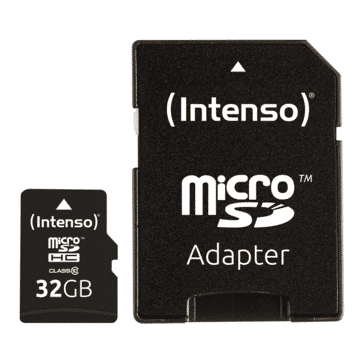USB Micro+Adapter MicroSDHC 32GB Intenso C10 40MB/s